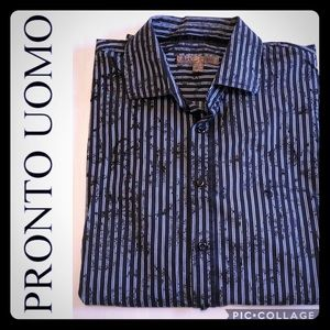 """PRONTO UOMO """"Blue"""" Label from Men's Wearhouse."""